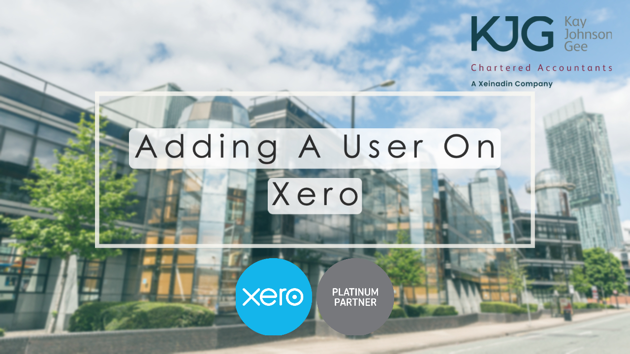 Adding A User On Xero