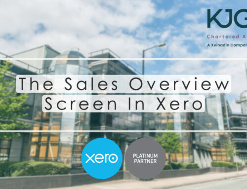 Xero Training: The Sales Overview Screen