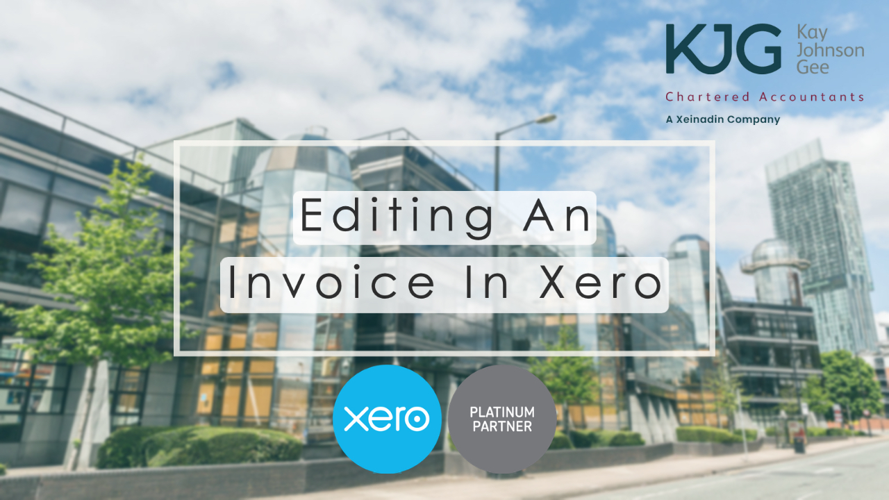 Editing an Invoice in Xero